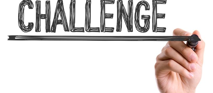 Image showing a hand drawing the word challenge.
